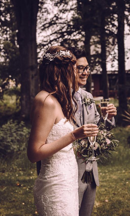 bohemiskt bröllop i Småland brudskål