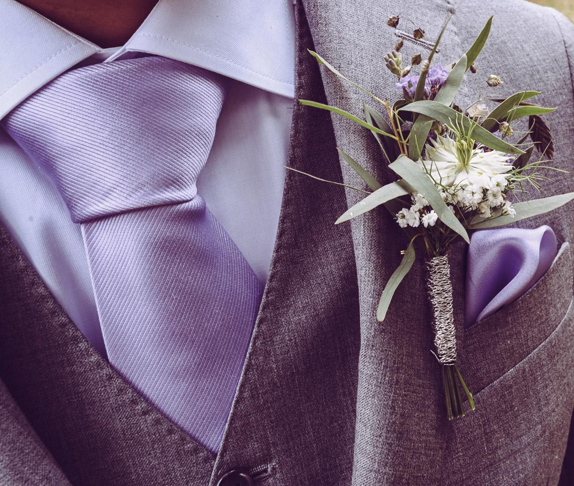brudgum kavaj lila slips