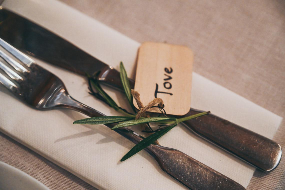 rustik bröllopsdukning
