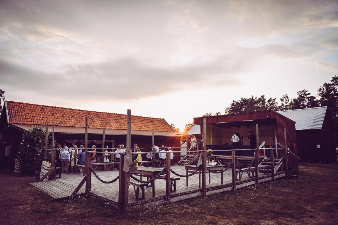 Bröllopsfest på kaffetorpet på Oknö