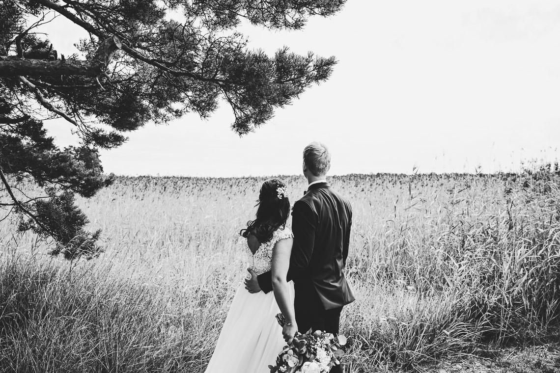 dramatiska bröllopsbilder fotograf Sandra Hila
