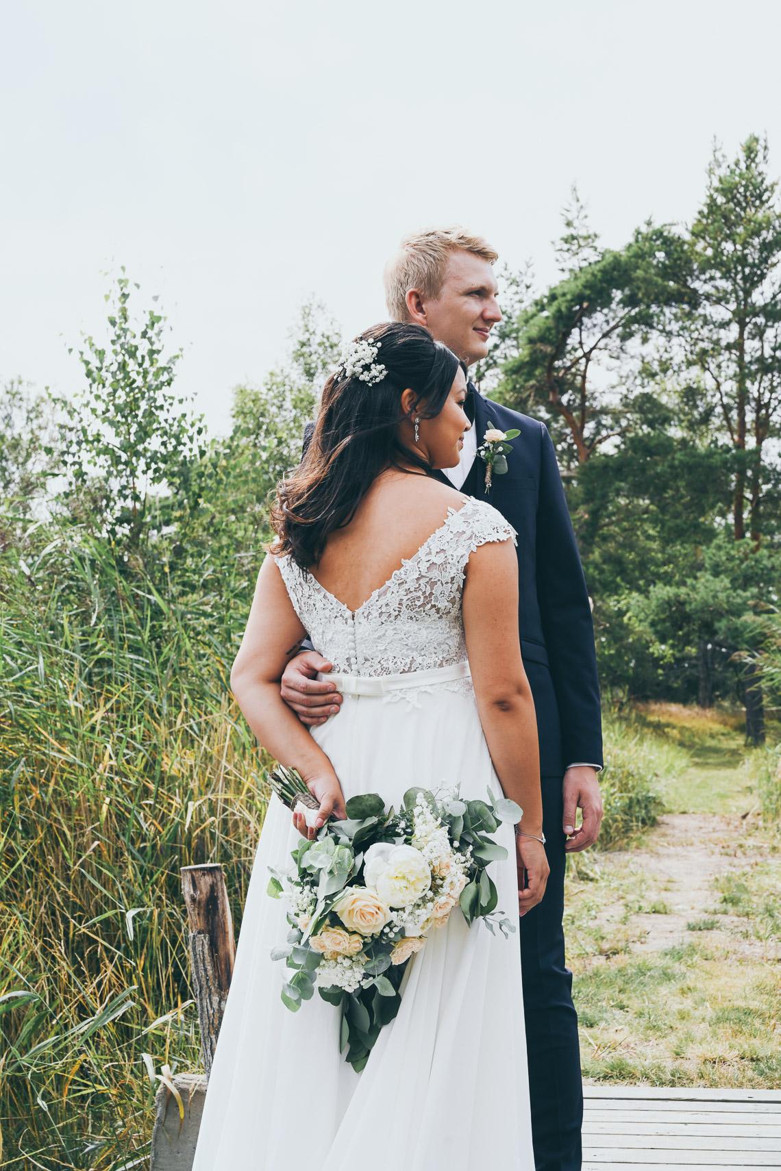 bröllopsporträtt på Oknö fotograf Sandra Hila