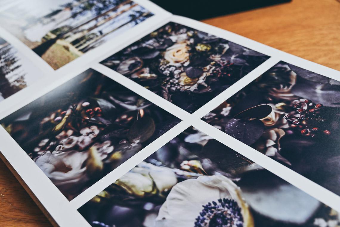 En stor och lyxig fotobok bröllop